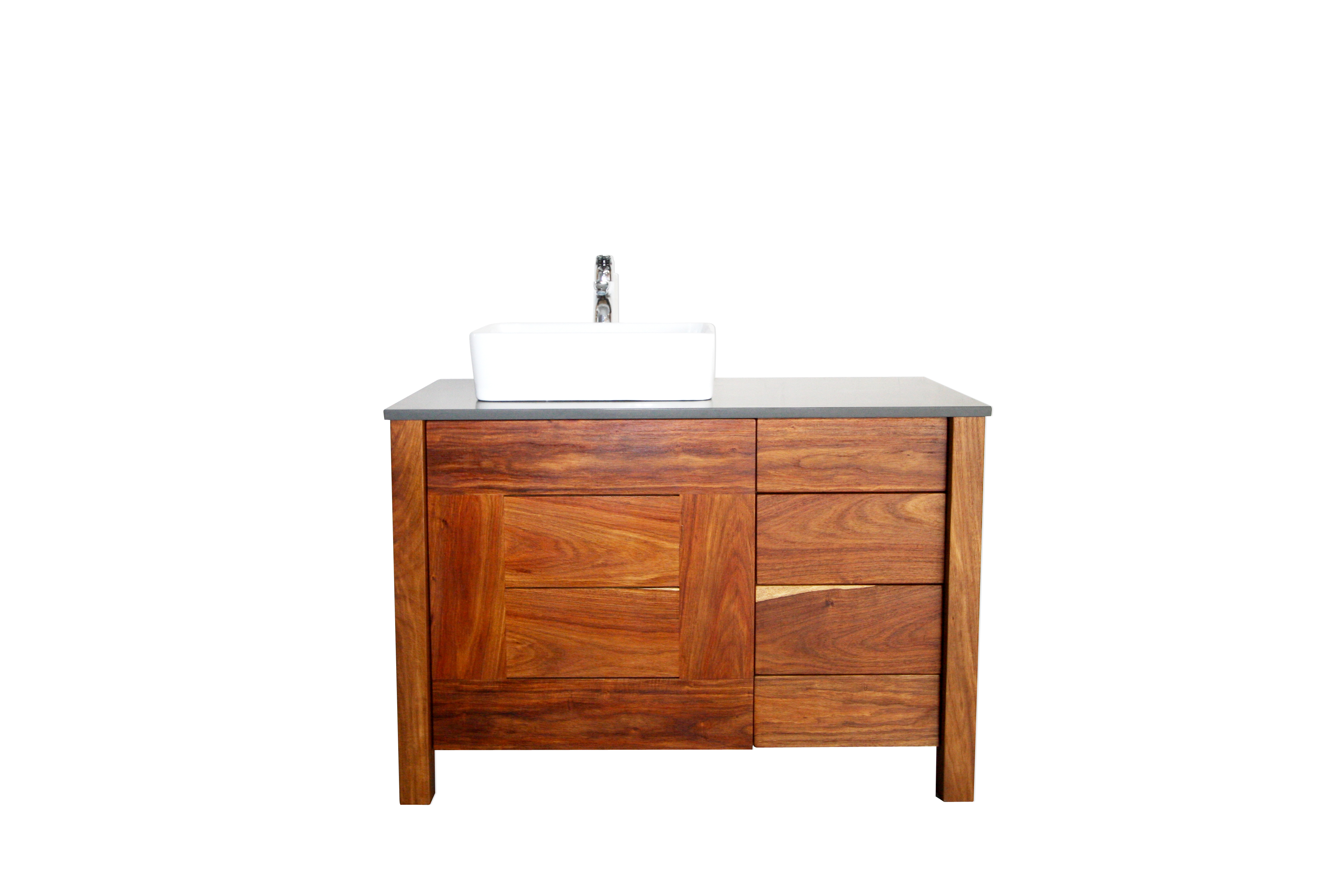 the goodwood co solid wood bathroom vanity slatted kiaat