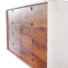 Chest of draws in white oak with dark faced draws