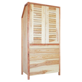Freestanding Bedroom Cupboard Ash Closed Draws
