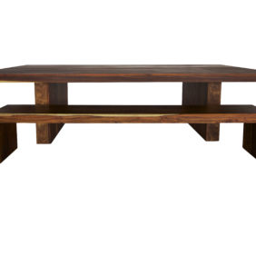 Solid wood dining room table made from Kiaat