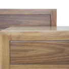 Walnut Wood, clear or oiled finished for Bathroom Vanity and Bedside Table
