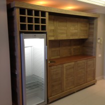Wet bar made from Solid White Oak