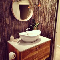 contemporary bathroom vanity - solid wood