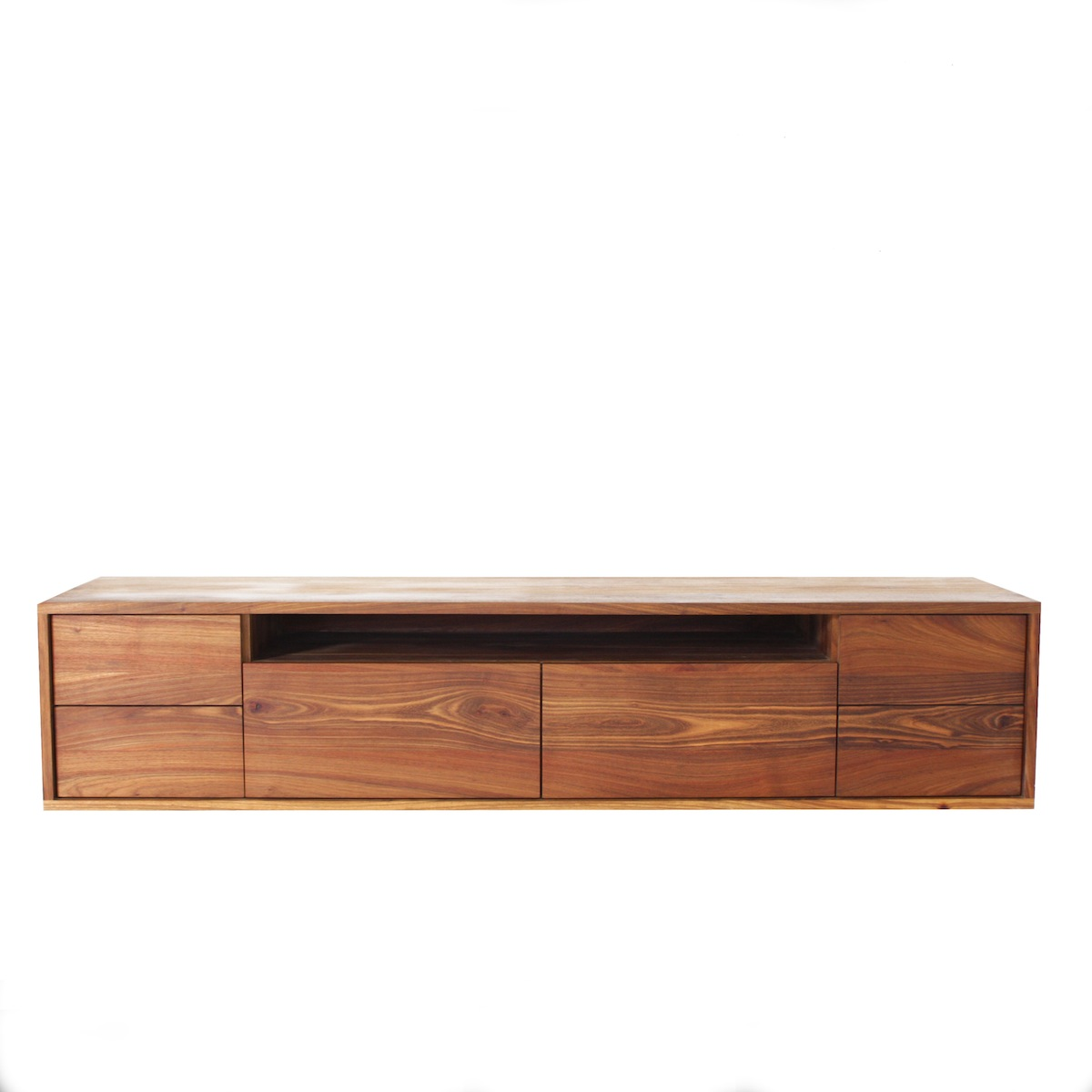 The Goodwood Co Gspek Floating Tv Unit In Solid Wood Kiaat