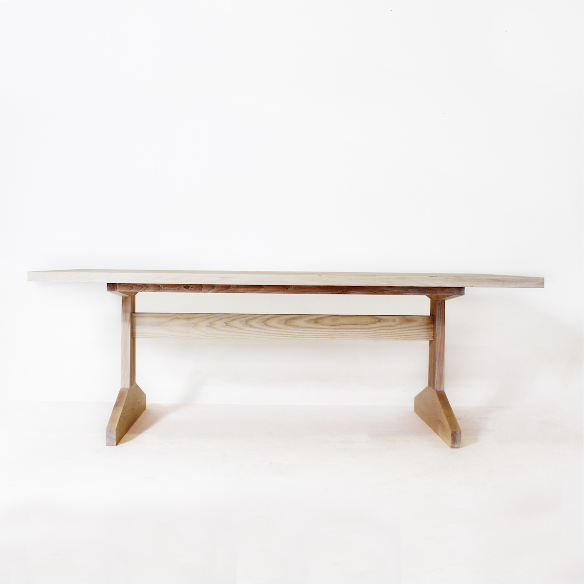 Kiaat Wood Kitchen: The Goodwood Co Tapered Beam Solid Wood Dinning Table